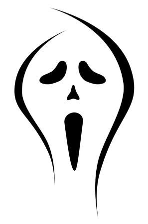 scary face: scary face ghost illustration Stock Photo