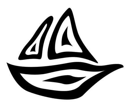 doodle boat abstract illustration Stock Illustration - 13533174