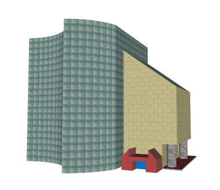 office building render isolated photo