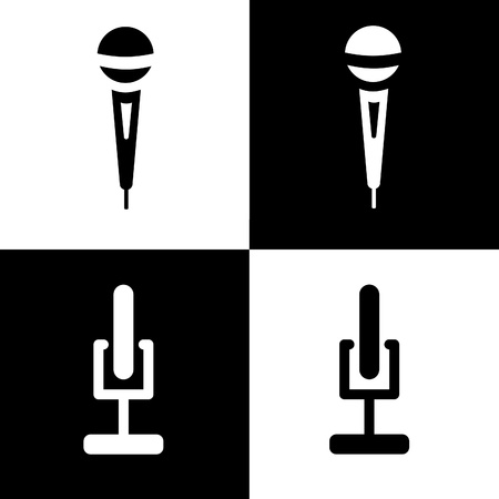 microphone icons set photo