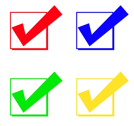 checkboxes: check mark and check box