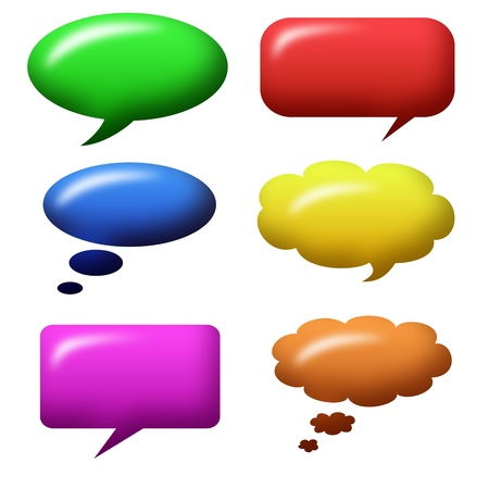 speech bubbles shiny Stock Photo - 13533190