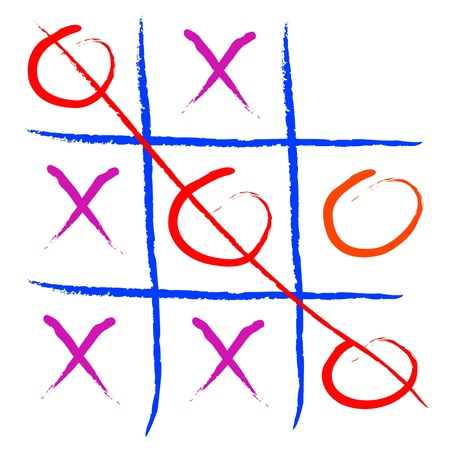 toes: tic tac toe game illustration