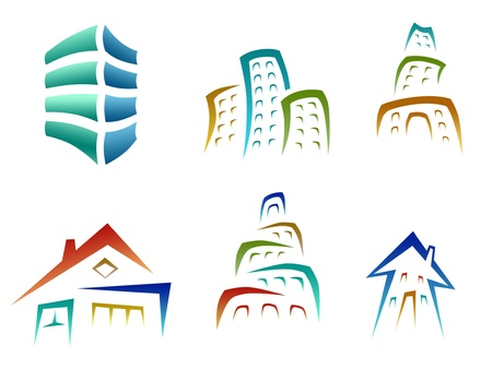 set of building and house icons Stock Photo - 13597564