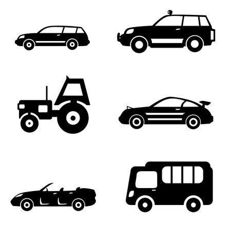 jeu d'icônes de voiture automatique des symboles