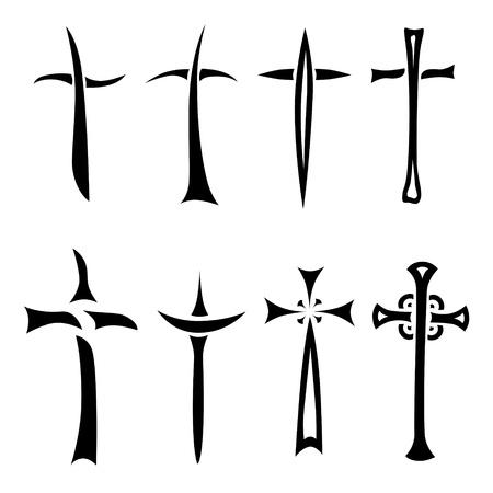 religious cross set of icons Stock Photo - 13597560