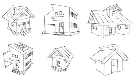 house set sketch illustration Stock Illustration - 13597674