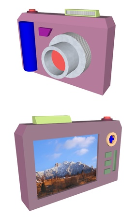 compact digital photo camera render photo