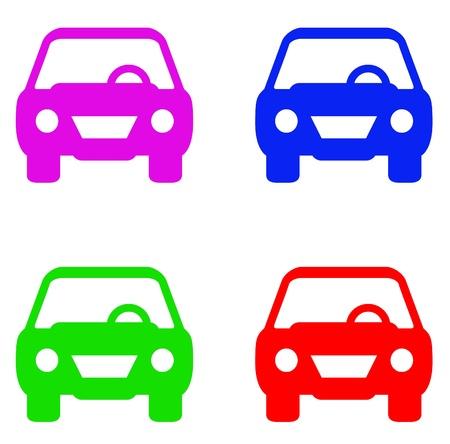 standard car symbol set in colors