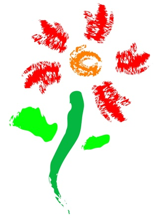 flower, brush abstract painting Stock Photo - 13597657