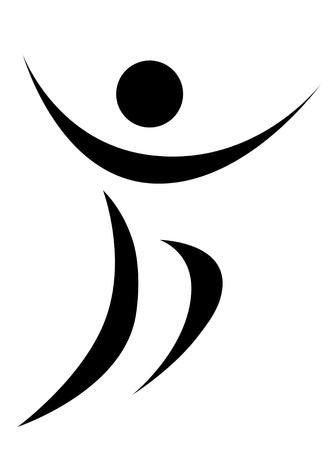 happy person abstract symbolic illustration illustration