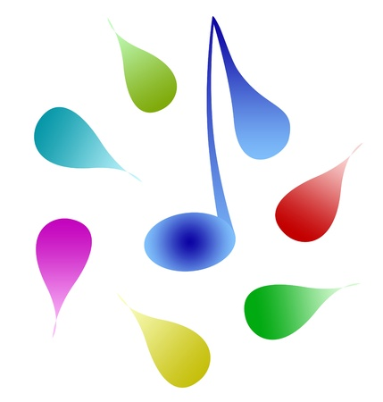 music notes abstract symbol Stock Photo - 13597623