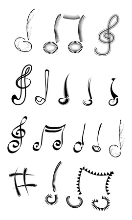 abstract music notes set photo