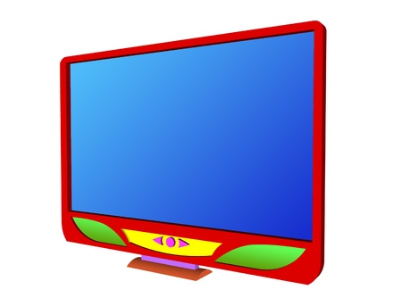 blue lcd tv illustration illustration