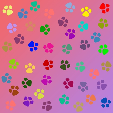 canines: dog paw prints pattern seamless