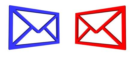 mail envelopes illustration Stock Photo