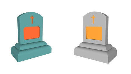 grave stone: grave stone set, render illustration