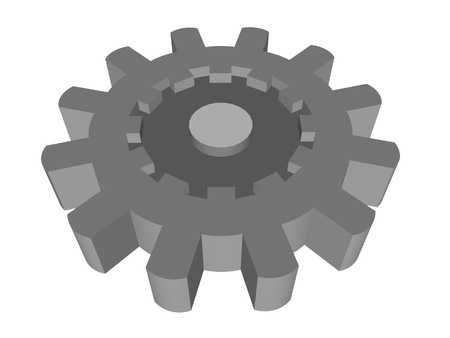 machined: gear render