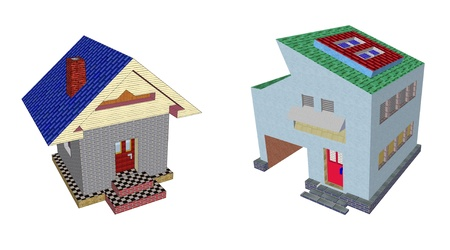 house model render isolated Stock Photo - 13853687