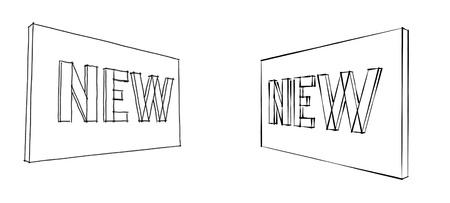 novelty: new board sketch