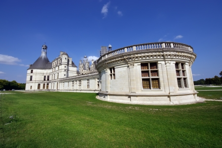 king and queen: side view of Chambord, the biggest french medieval castle