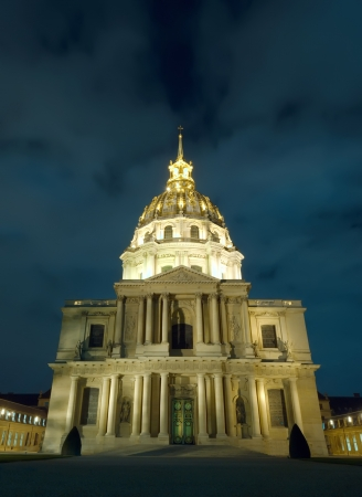 invalides: Dome of Les Invalides in Paris, France  Stock Photo