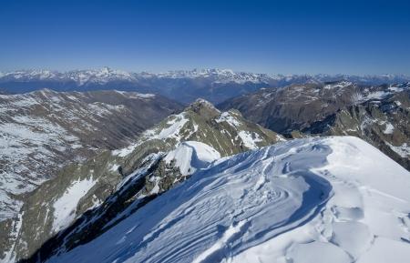 view from Diavolo di Tenda summit  2914m , Italy Alps Banco de Imagens