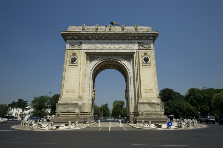 bucharest:  Arch of Triumph, Bucharest  Romania Stock Photo