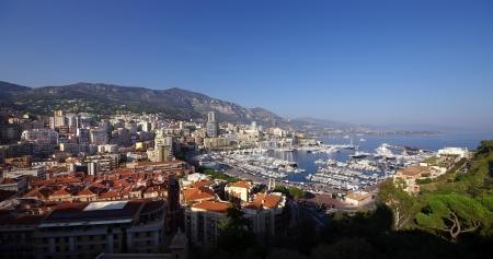 wide view of Hercules port, Monte Carlo, Monaco  Stock Photo - 14437656