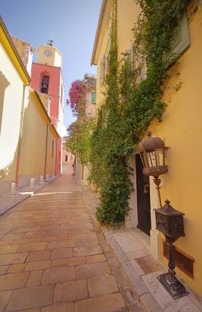 narrow street in Saint Tropez, France Stock Photo - 14437694