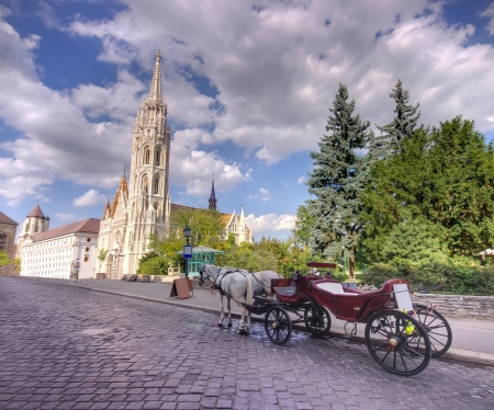 driven: Horse driven carriage at Budapest, Hungary