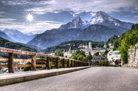 berchtesgaden: Berchtesgaden landscape and Watzmann mountain, Bavarian Alps, Germany