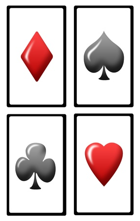 play card: set of playing cards abstract illustration