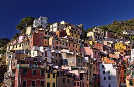 traditional buildings in Riomaggiore, Cinque Terre, Italy  Stock Photo - 14834073