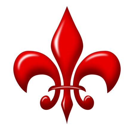 lis: red shiny fleur de lis Stock Photo