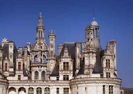 chambord: towers of Chambord castle, Loire valley France Editorial