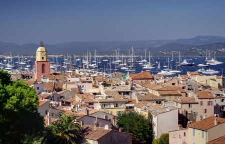 Saint Tropez city, Mediterranean Sea, France Editorial