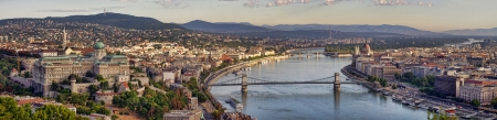 Budapest city panorama with Danube view, Hungary photo