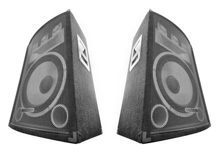 hangos: hangszóró, elszigetelt, fehér Stock fotó
