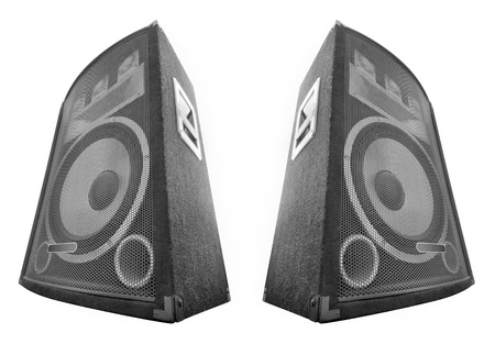loudspeakers isolated on white photo
