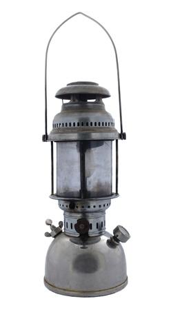 kerosene: old vintage style retro petrol lamp isolated on white Stock Photo