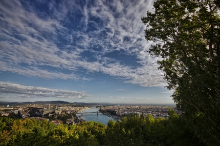 wide view of Budapest city, Hungary photo