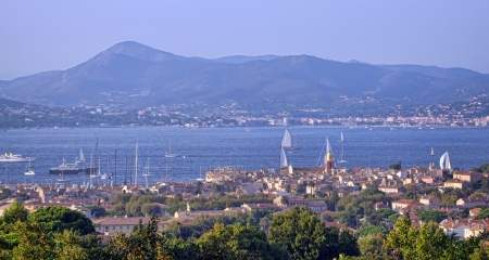 aerial view of Saint Tropez city, France  photo