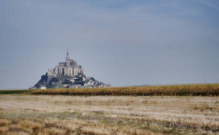 autumn view of Saint Michel castle, France photo