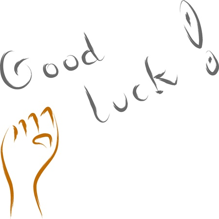 luck charms: abstract good luck vector illustration text wish  Illustration