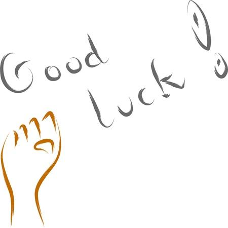 good luck: abstract good luck vector illustration text wish  Illustration