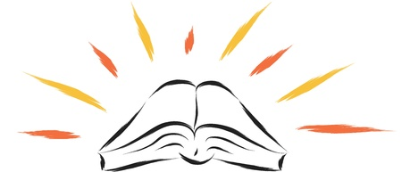 protestant: abstract illustration of holy religious book with sparks