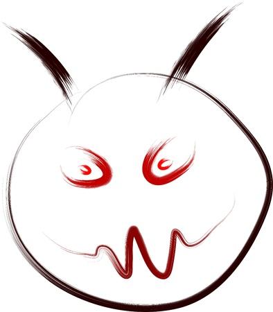 evil smiley face sketch Stock Vector - 16136511