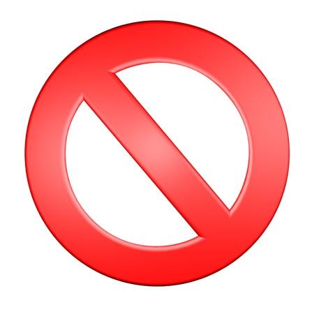 red forbidden sign 3d render illustration Stock Illustration - 16250916