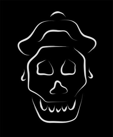 captain skull sketch Stock Vector - 16250950